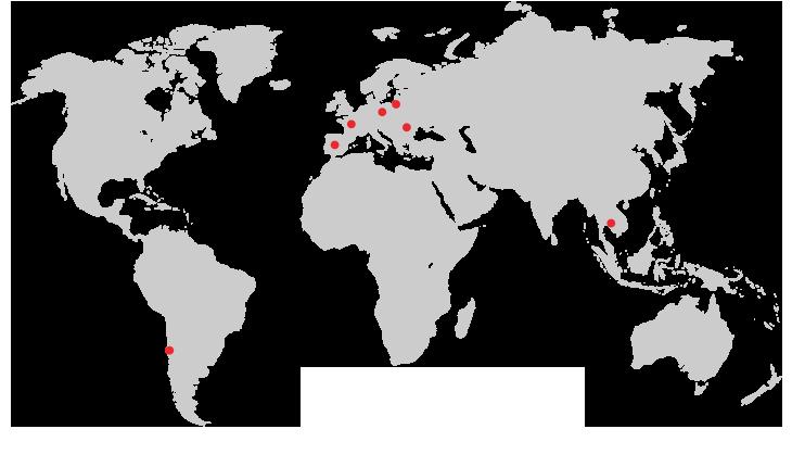 Illustre la marque Japcook en France et dans le monde. C'est une carte logistique de l'import export Japcook.