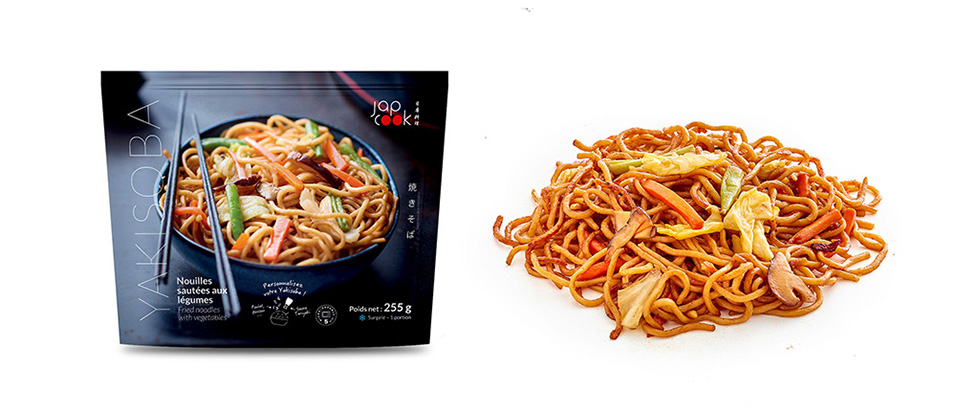 YAKISOBA, Wheat noodles with vegetables, cooked